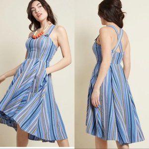 ModCloth Kitschy Charisma A-Line Dress in Stripes